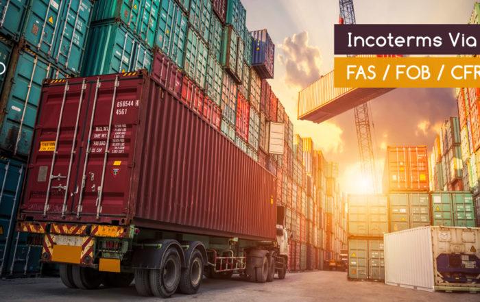 Incoterms via mare FAS FOB CFR CIF