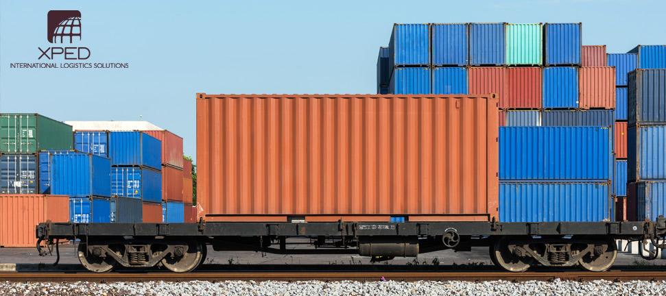 Trasporto container su rotaia